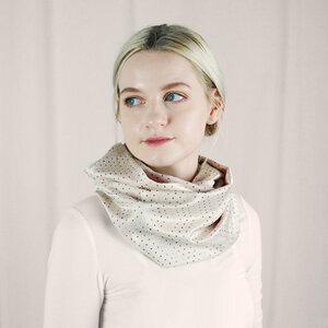 Loop, Wendeschal, Schal, scarf Vintage mit roten Punkten - Biostoffe Berlin by Julie Cocon
