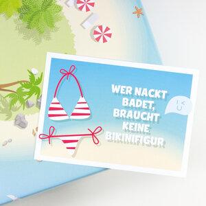 Postkarte Bikinifigur - Bow & Hummingbird