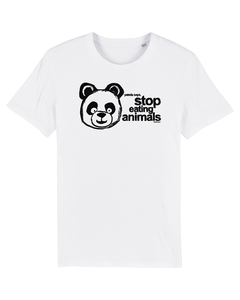 Panda says: stop eating animals UNISEX T-Shirt vegan organic & fair - ilovemixtapes