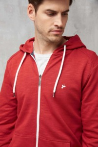 RECOLUTION Sweatjacke Basic Men Deep Red - recolution