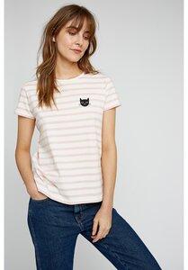 Cat Stripe T-Shirt  - People Tree