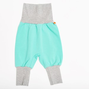 "Babypumphose ""Mint/Grau"" aus 95% Baumwolle und 5% Elasthan - Cheeky Apple"