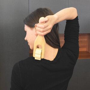 Faszienrolle aus Zirbe |  für Nacken & Arme | Handarbeit aus Tirol  - 4betterdays