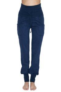 Damen Yogahose 2 Farben Bio-Baumwolle Hose mit Taschen 4082 - Albero