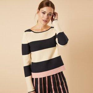 Streifen-Pullover GOTS - LANIUS