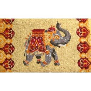Elefant Fußmatte Orange-Rot - Just Be