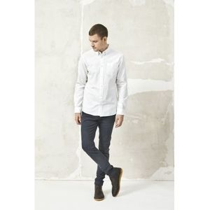 Hemd - Button Down Oxford Shirt - Bright White - KnowledgeCotton Apparel