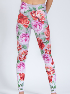 Yoga Leggings ROSES aus Funktionsmaterial - Magadi