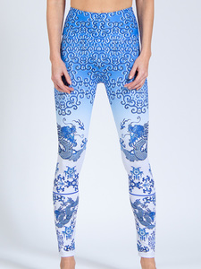 Yoga Leggings SILK ROAD aus Funktionsmaterial - Magadi