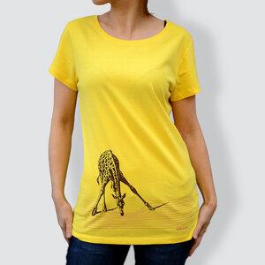 """Damen T-Shirt, """"In der Savanne"""", Gelb - little kiwi"""