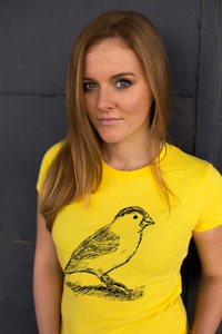 Spatz Women Shirt Yellow Bio Vegan Fairtrade - ilovemixtapes