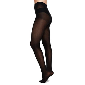 Biobaumwoll Premium Strumpfhose Stina Schwarz - Swedish Stockings
