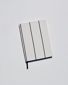 Notizbuch gestreift weiß/schwarz  - JAN N JUNE