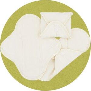 Stoffslipeinlagen natur aus Biobaumwolle - Imse Vimse (erdbeerwoche)