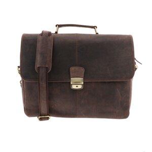 Oxford - 15,6-Zoll-Laptoptasche aus dunkelbraunem Ökoleder - MoreThanHip