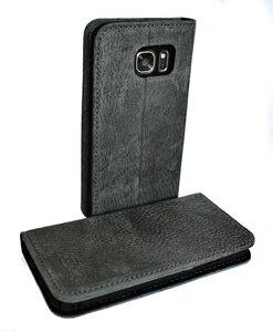 Handy Hülle Echt Natur Leder zertifiziert für Galaxy S7  - Ecollo