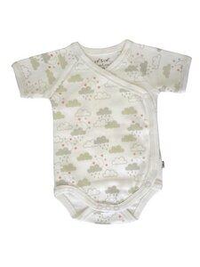 Baby Kurzarm Wickelbody allover Bio Baumwolle EBi & EBi - EBi & EBi