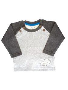 Baby Langarm Shirt grau Fairtrade EBi & EBi - EBi & EBi