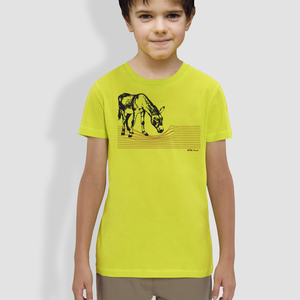 "Kinder T-Shirt, ""Eselchen"", Grün - little kiwi"