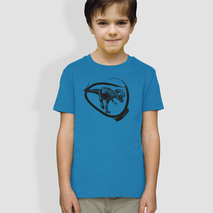 "Kinder T-Shirt, ""Dino"", Blau - little kiwi"