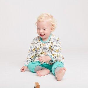 """Gefüttertes Babyjäckchen """"Lovely Zoo"""" aus Bio-Baumwolle - Cheeky Apple"""