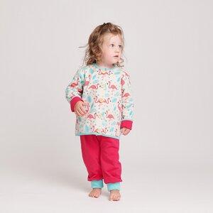 """Gefüttertes Babyjäckchen """"Flamingo"""" aus Bio-Baumwolle - Cheeky Apple"""