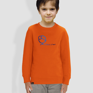 "Kinder Sweatshirt, ""Kiwis Farbenspiel"", Orange - little kiwi"