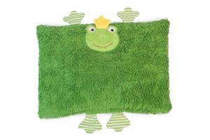 Zirbenkissen, Kuschelkissen 'Frosch' Farbe: grün / Zirbenspäne - PAT & PATTY