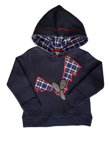 Baby u. Kinder Sweatshirt mit Kapuze blau Bio Baumwolle - Enfant Terrible