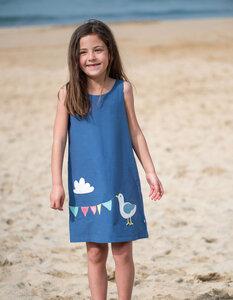 Wendekleid Muschel und Möwe reversible dress marina blue - Frugi
