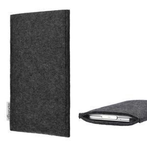 Handyhülle PORTO für Fairphone 2 - VEGANer Filz - anthrazit - flat.design