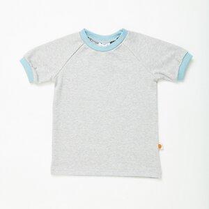 """Kurzarm T-Shirt """"Grau/Stone Blue"""" aus 100% Bio-Baumwolle - Cheeky Apple"""