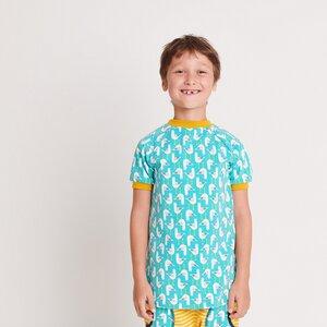 "Kurzarm T-Shirt ""Seagulls"" aus 95% Bio-Baumwolle und 5% Elasthan - Cheeky Apple"