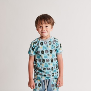 "Kurzarm T-Shirt ""Monsters"" aus 95% Bio-Baumwolle und 5% Elasthan - Cheeky Apple"