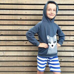 Kinder Hoodie Polarfuchs - internaht