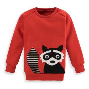 Kinder Sweatshirt Waschbär - internaht