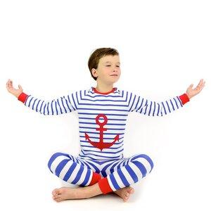 Kinder Schlafanzug mit Anker - internaht