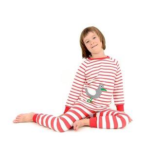 Kinder Schlafanzug mit Möwe - internaht