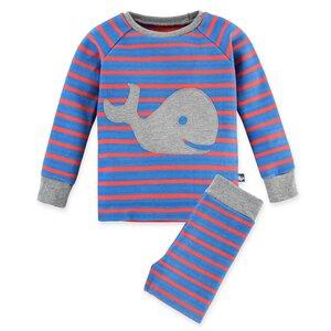 Kinder Schlafanzug mit Wal - internaht