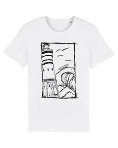 White Leuchtturm UNISEX T-Shirt Biobaumwolle & Fair Wear  - ilovemixtapes