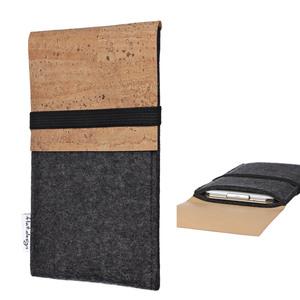 Handyhülle SAGRES für Shift Phone mit Kork - VEGANer Filz - anthrazit - flat.design
