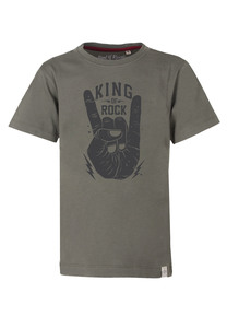 King of Rock T-Shirt  - Cooles Jungen Kinder T-Shirt Kurzarm aus 100% Bio-Baumwolle - Band of Rascals