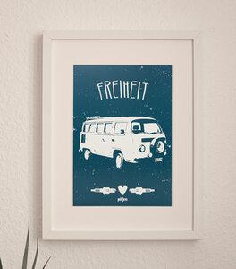 Freiheit - Bus Poster A4 - päfjes