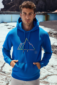 Unisex Hoodie mit Motiv / FADED MOUNTAIN - Kultgut