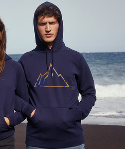 Unisex Hoodie mit Motiv / Colorful Mountain  - Kultgut