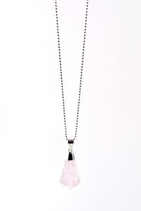 Rosy Rosenquarz Halskette von Crystal and Sage - Crystal and Sage