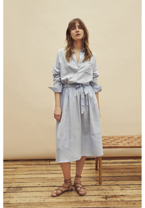 Rock - Gemma Stripe Skirt - Blue - People Tree