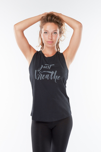 Yoga Tank Top Just Breathe - Urban Goddess