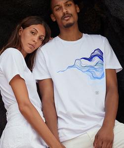 T-Shirt mit Motiv / Welle - Kultgut