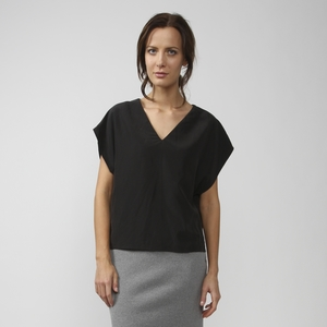 Damen Top Ruby Black Modal - stoffbruch